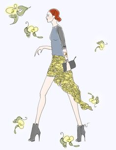 Outfit of the Day: Taylor Tomasi Hill // Illustration by Tanya Leigh Washington for Stylebistro #nyfw #sbnyfw