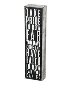 Another great find on #zulily! 'Take Pride' Box Sign #zulilyfinds