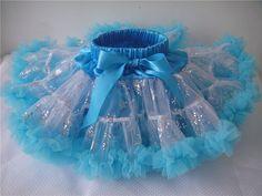 Light blue petti skirt ice blue frozen tutu by CEBowtique