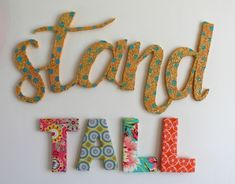 4 fun things you can make out of foam! - A girl and a glue gun Styrofoam Letters, Flamingo Ornament, Glue Gun, Letter Art, Stand Tall, Making Out, Creative Design, Art Projects, Guns