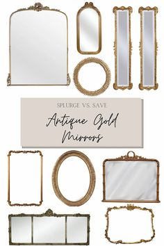 A round-up of the best French, Baroque, and antique gold mirrors for all budgets for timeless classic decor.