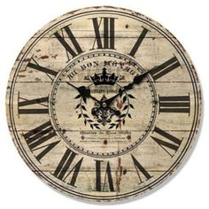 Rustic Looking Wall Clock with Roman Numerals