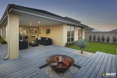 Need advice on what to do with your alfresco floor? Get the inspiration and tips from our Alfresco Flooring guide to get you in the right direction. Farmhouse Homes, Farmhouse Design, Rustic Farmhouse, Cute Dorm Rooms, Cool Rooms, Porches, Farmhouse Side Table, Ship Lap Walls, Home Look