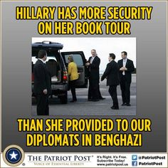 Book tour security for Hillary more than in Benghazi
