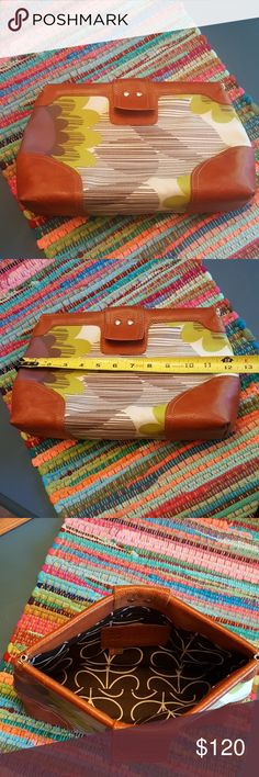 """RARE Orla Kiely  London clutch 8"""" ×12"""" great shape anthropologie!    Wallet that matches listed seperately Orla Kiely Bags Clutches & Wristlets"""