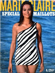 Claudine Auger en couverture de Marie Claire n°136 mai 1965, photo Willy Rizzo