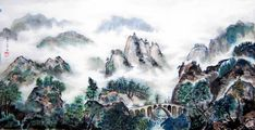 chinese painting mountains - Google Search