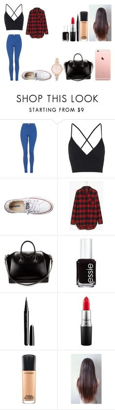 """""""Untitled #446"""" by kalieh092 on Polyvore featuring Topshop, Converse, Madewell, Givenchy, Essie, Marc Jacobs, MAC Cosmetics and River Island"""