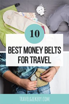 The Best Money Belts for Travel: Check out this list of the 10 best anti-theft travel pouches to keep your money and other valuables safe on trips abroad. Featuring the best picks of travel money belts for women and men. Travel without having to worry about your documents and cash with these travel money pouches - many with the RFID blocking technology. Anti-theft money belts for safe travel. #moneybelt #travelsafety #antitheft #forwomen #formen #travelgeekery #christmasgift