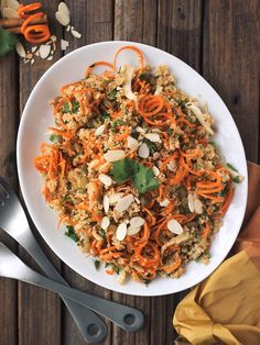 Morroccan Quinoa and Carrot Salad - Beth Manos Brickey from Tasty Yummies shares a gluten free, vegan kosher for Passover salad recipe.  via @toriavey