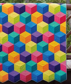 Arcade Game quilt pattern from Jaybird Quilts Beginner Quilt Patterns, Quilting For Beginners, Quilt Block Patterns, Tumbling Blocks Quilt, Quilt Blocks, Patch Quilt, Jaybird Quilts, History Of Quilting, Colorful Quilts