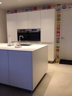 Keuken Bax, Werkblad Bulthaup, Behang Eiffinger