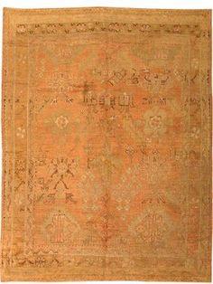 Antique Oushak Turkish Rug / Carpet 42093