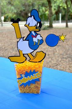 Donald Duck - Mickey Mouse clubhouse birthday party center piece