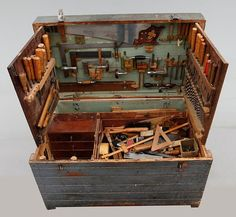 Fact: This Early 20th Century Swedish Tool Chest is Super Cool   Man Made DIY   Crafts for Men   Keywords: antiques, hand-tools, diy, woodworking