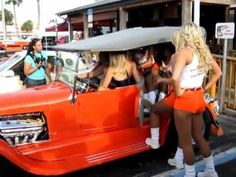 How Many Hooter Girls Fit in 1927 Ford Phaeton T Bucket Hot Rod at Hoote...
