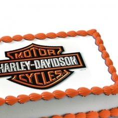 Harley-Davidson Edible Image Cake Decoration