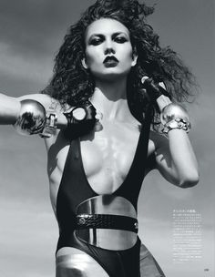 the metal winner: karlie kloss by mikael jansson for vogue japan september 2012