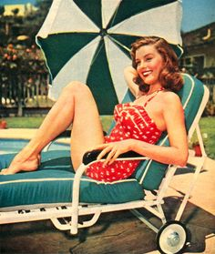 Red Vintage Swimsuit. <3