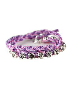 Purple Ombre Double Wrap Bracelet