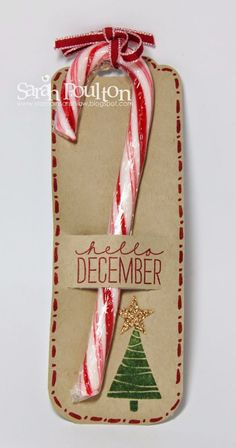 : A quick Candy Cane December Wonder Tag Swap from Stampin… Stampin' Sarah!: A quick Candy Cane December Wonder Tag Swap from Stampin' Up! Candy Cane Christmas, Christmas Gift Tags, Christmas Paper, Handmade Christmas, Christmas Holidays, Christmas Decorations, Christmas Ornaments, Candy Cane Decorations, Christmas Parties