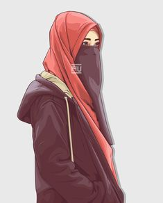 The scarf is the central element in the attire of ladies with hijab. Given it is a vital item which completes Arab Girls Hijab, Muslim Girls, Beautiful Muslim Women, Beautiful Hijab, Hijabi Girl, Girl Hijab, Fantasy Boy, Islamic Cartoon, Hijab Cartoon
