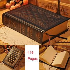4e632ffd1dd1 Retro Vintage Journal Diary Notebook Leather Blank Hard PU Cover Sketchbook  Gift