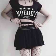 Cute Goth Outfits, Bad Girl Outfits, Rock Outfits, Gothic Outfits, Grunge Outfits, Fashion Outfits, Bad Girl Aesthetic, Aesthetic Clothes, Grunge Style