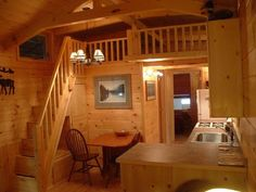 yes... i would live in this... BUT...not so much wood!  Adirondack White Pine Cabin