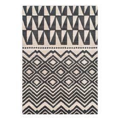 Kurzflor Tapis Modern marocain Motif Style Vintage Ombre Look Gris Bleu