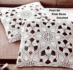Almofada Flor Abacaxi - PRose Crochet