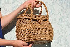 Wicker bag wicker bag vintage wicker purse straw bag straw