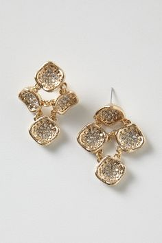 Eta Carinae Drops - Anthropologie.com #Gold #earrings #boldaccessories #anthropologie