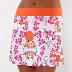 pink blossom running skirt  Love this skirt, goes great with my green tank!