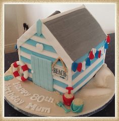 beach hut cake - Google Search