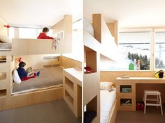 bunk-beds-and-desk-for-a-mountain-cabin.jpg (600×450)