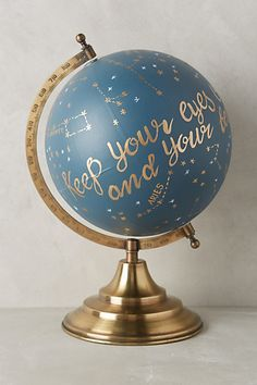 Hand painted globe #anthrofave #anthropologie