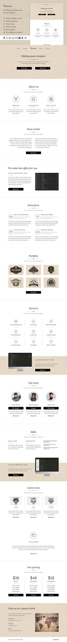 Susanna – Email template + Builder. Email Templates. $15.00