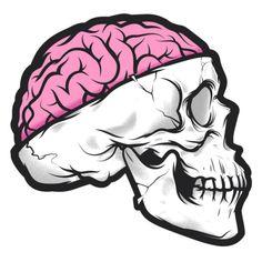 Brain Skull by Musketon, via Behance Graffiti Art, Graffiti Drawing, Cool Art Drawings, Drawing Sketches, Zombie Drawings, Skull Drawings, Drawing Ideas, Art And Illustration, Doodle Art