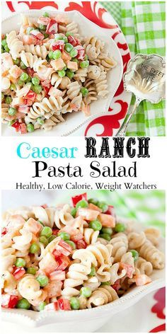 This is the BEST pasta salad ever. Loved the mix of caesar and ranch dressing. It is perfect