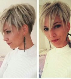 """Blond UnderCut More [ """"short hair-short hair cuts for women-short hair styles-short hair cuts- textured pixie cut- pixie cut- blonde- white blonde- dark roots- exotic hair"""", """"Blond UnderCut if I was ready for longer hair I would so do this"""", """"Best way to spice up your style is getting a new haircut and a new hair ..."""