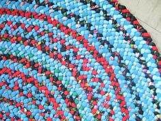 recycled braided rug.