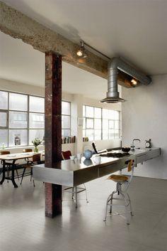 Boheme kitchen, urban style.