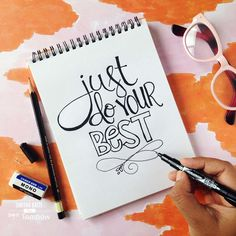 Lettering with the new Tombow Beginner Lettering Set