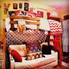 gorgeous Dorm Life, College Life, Dorm Design, College Dorm Rooms, Awesome Bedrooms, My New Room, Apartment Living, Decoration, Room Inspiration