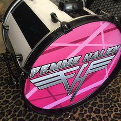 I'm in love with my beautiful custom Femme Halen Kit! Wow Drummer Fish is amaze balls!#drumporn #FemmeHalen #vanhalen #vanhalentribute  #cougrzzzrock ##drummergirl #drummer #girldrummer #alexvanhalen #tributeband #allgirlband #ilovemyband #ilovedrums #ilovepink #drummerfish by cougrzz