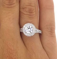 1.90 CT ROUND CUT D/VS2 DIAMOND SOLITAIRE ENGAGEMENT RING 18K WHITE GOLD