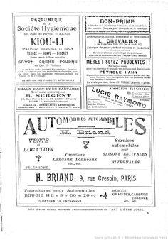 Publicités, L'Art d'être jolie : publication hebdomadaire illustrée / sous la direction de Mme Liane de Pougy, 27/08/1904