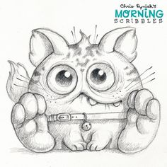 Weird cat  #morningscribbles by chrisryniak