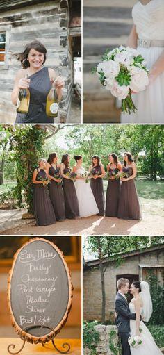 bridesmaids dresses, same color, different styles!